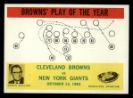 1964 Philadelphia #42   -  Blanton Collier  Browns Play of the Year Front Thumbnail
