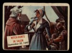 1954 Topps Scoop #98   Witch-Hunts In Salem Front Thumbnail