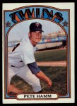 1972 Topps #501  Pete Hamm  Front Thumbnail