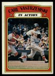 1972 Topps #38   -  Carl Yastrzemski In Action Front Thumbnail