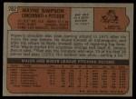 1972 Topps #762  Wayne Simpson  Back Thumbnail