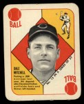 1951 Topps Red Back #13  Dale Mitchell  Front Thumbnail