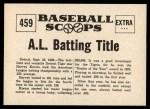 1961 Nu-Card Scoops #419   -   Mickey Cochrane  Bean Ball Ends Career of Mickey Cochrane Back Thumbnail