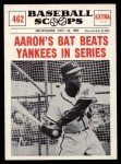 1961 Nu-Card Scoops #462   -   Hank Aaron  Aaron's Bat Beats Yankees in Series Front Thumbnail