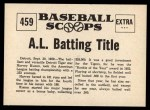 1961 Nu-Card Scoops #459   -   Harvey Kuenn  Harvey Kuenn Takes Batting Title Back Thumbnail