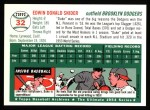 1994 Topps 1954 Archives #32  Duke Snider  Back Thumbnail