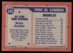 1991 Topps #388   -  Kelly Gruber All-Star Back Thumbnail