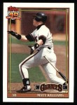 1991 Topps #190  Matt Williams  Front Thumbnail