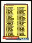 1992 Topps #366   Checklist 265-396 Front Thumbnail