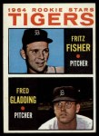 1964 Topps #312   -  Fritz Fisher / Fred Gladding Tigers Rookies Front Thumbnail