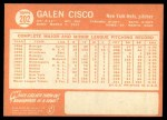 1964 Topps #202  Galen Cisco  Back Thumbnail