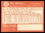 1964 Topps #563  Dal Maxvill  Back Thumbnail