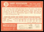 1964 Topps #258  Garry Roggenburk  Back Thumbnail