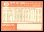 1964 Topps #121 COR Pete Runnels  Back Thumbnail