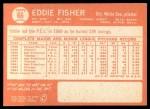 1964 Topps #66  Eddie Fisher  Back Thumbnail