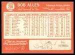 1964 Topps #209  Bob Allen  Back Thumbnail