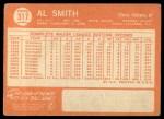 1964 Topps #317  Al Smith  Back Thumbnail
