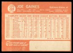 1964 Topps #364  Joe Gaines  Back Thumbnail