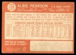 1964 Topps #110  Albie Pearson  Back Thumbnail