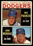 1964 Topps #456   -  Wes Parker / John Werhas Dodgers Rookies Front Thumbnail