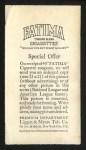 1913 T200 Fatima #4   Cincinnati Nationals Back Thumbnail