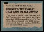 1980 Topps #1   -  Lou Brock / Carl Yastrzemski  Highlights Back Thumbnail