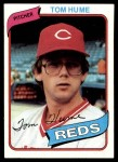 1980 Topps #149  Tom Hume  Front Thumbnail