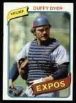 1980 Topps #446  Duffy Dyer  Front Thumbnail