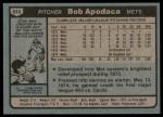 1980 Topps #633  Bob Apodaca  Back Thumbnail