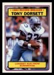 1983 Topps #2   -  Tony Dorsett Record Breaker Front Thumbnail