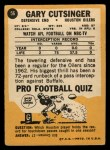 1967 Topps #56  Gary Cutsinger  Back Thumbnail