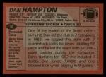 1983 Topps #30  Dan Hampton  Back Thumbnail