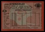 1983 Topps #85  Jan Stenerud  Back Thumbnail