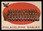 1959 Topps #31   Eagles Team Checklist Front Thumbnail