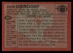 1983 Topps #155  Dan Dierdorf  Back Thumbnail