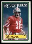 1983 Topps #169  Joe Montana  Front Thumbnail