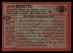 1983 Topps #187  Jeff Bostic  Back Thumbnail