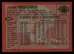 1983 Topps #198  John Riggins  Back Thumbnail