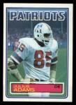 1983 Topps #325  Julius Adams  Front Thumbnail