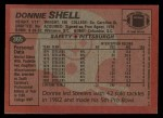 1983 Topps #365  Donnie Shell  Back Thumbnail