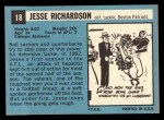 1964 Topps #18  Jesse Richardson  Back Thumbnail