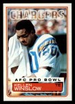 1983 Topps #382  Kellen Winslow  Front Thumbnail