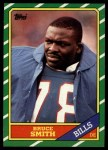 1986 Topps #389  Bruce Smith  Front Thumbnail