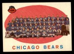 1959 Topps #104   Bears Team Checklist Front Thumbnail