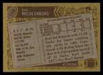 1986 Topps #119  Karl Mecklenburg  Back Thumbnail