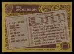 1986 Topps #78  Eric Dickerson  Back Thumbnail