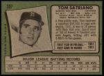 1971 Topps #557  Tom Satriano  Back Thumbnail