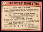 1969 Topps #49 G  -  Steve Jones / Ellie Rodriguez Royals Rookies Back Thumbnail
