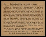 1941 Gum Inc. War Gum #50   Ex-Football Star Is Death To Japanese Back Thumbnail
