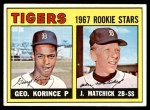 1967 Topps #72   -  John Matchick / George Korince Tigers Rookies Front Thumbnail